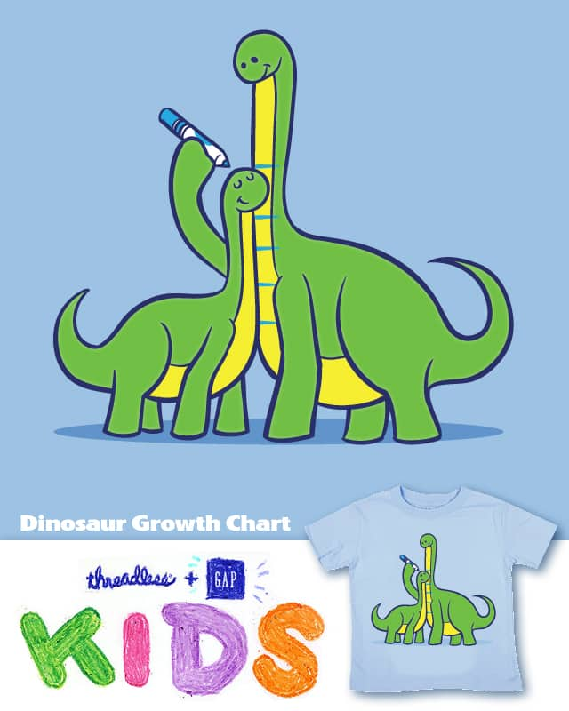 Dinosaur Growth Chart by RyanAstle on Threadless