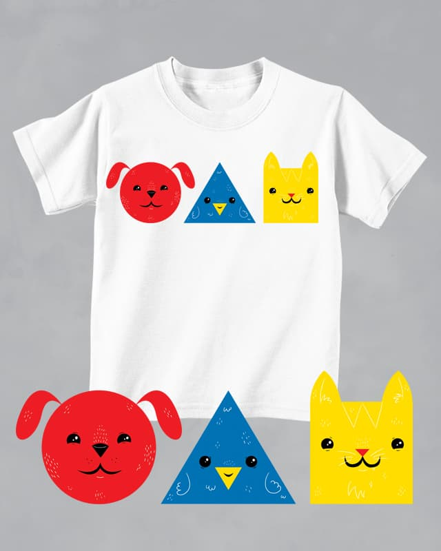 Shapes Colors Pets by TheInfamousBaka on Threadless